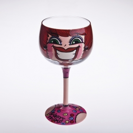 China face painted margarita glass factory