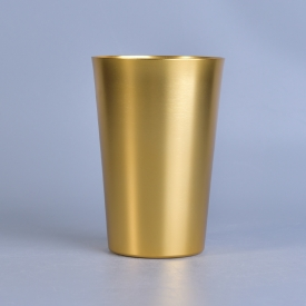 China gold color alumium metal votive candle holder factory