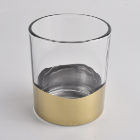 China golden bottom 400ml glass candle jars factory