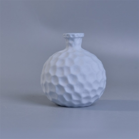 China hexagon pattern ceramic reed diffuser bottle factory