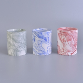 China home deco 5 oz  marble ceramic candle holders factory