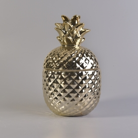 China ceramic candle holder pineapple home deco factory