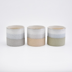 Chiny matte ceramic candle jars wholesaler fabrycznie
