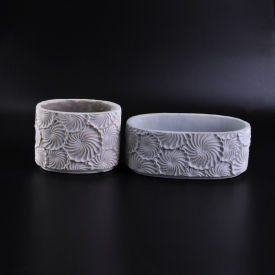China home decor flower cement candle holder factory