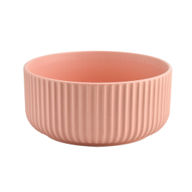 China home decor pink 3 wicks stripes ceramic candle jars factory