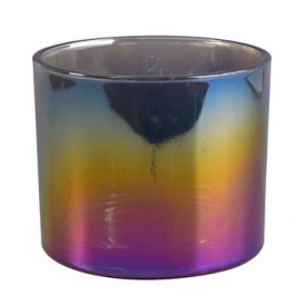 China iridescence large candle jar factory