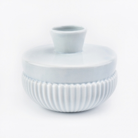 China light blue ceramic diffuser bottle round bottom  factory