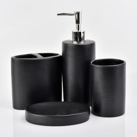 China luxury hotelware ceramic bathroom accessories sets wholesale factory