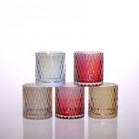China machine pressed glass candle holder factory