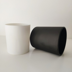 China matte white and matte black glass jars for candle making factory