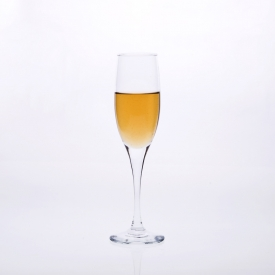 China mouth blown clear champagne glasses factory
