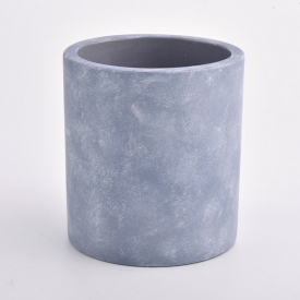 China 14oz cement candle jars for home fragrance factory
