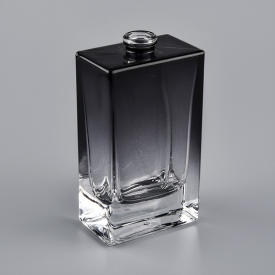 China ombre black square glass perfume bottles factory