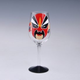 China opera face painted margarita glass factory