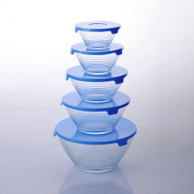 China pyrex glass bowls with lid factory