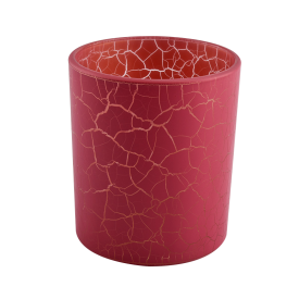 China red decorative glas candle vessel 12 oz factory