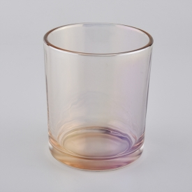 China spraying color glass candle jars from Sunny Glassware factory