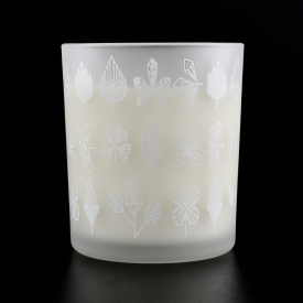 China white frosted glass candle jar factory