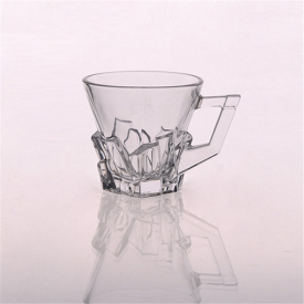 China Embossed Glass Mug Wholesale Crystal Clear Glass factory