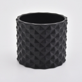 China woven pattern black candle jars factory