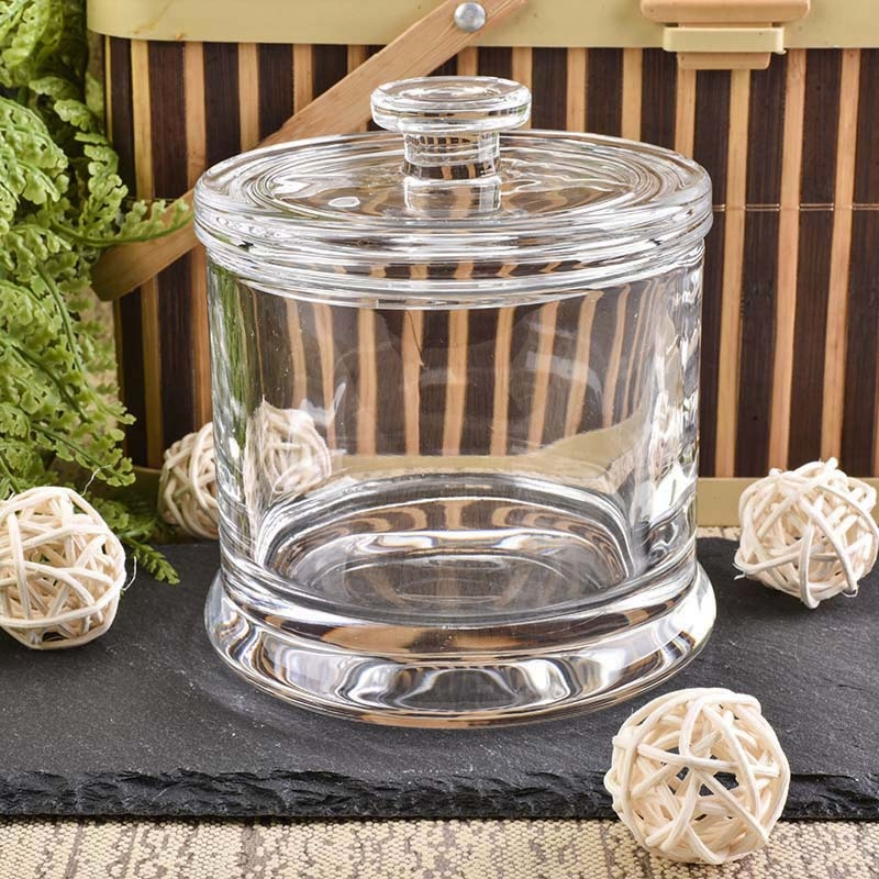 10 Oz Glass Candle Jar With Lid From Sunny Glassware