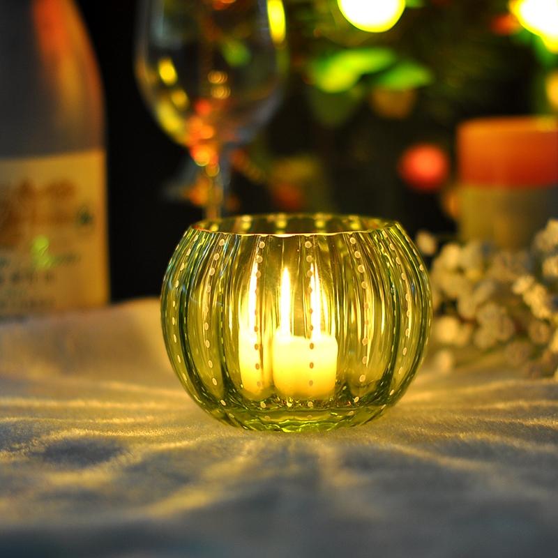2015 Baru Pemegang Lilin Kaca Nazar Bulat Kaca Nazar