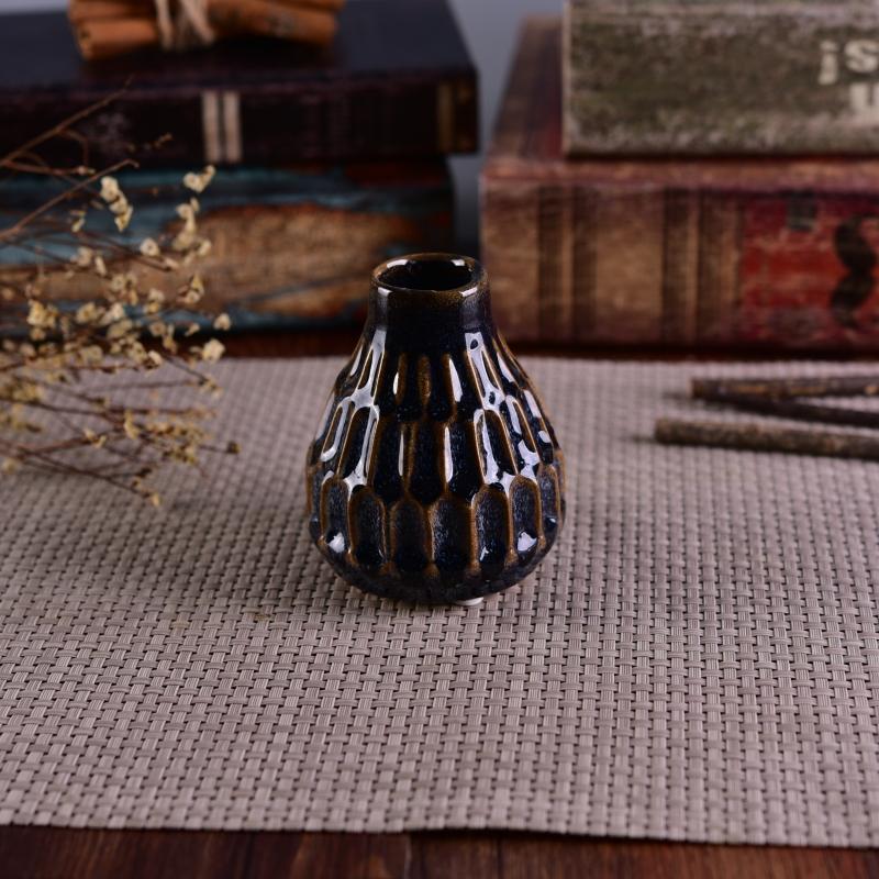 210ml decorative fancy glazed aromatic ceramic diffuser bottle for Decorative diffuser