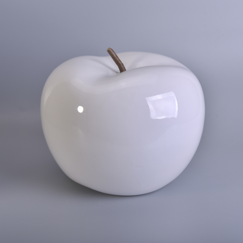 Beautiful glaze home decorating ceramic apple home for Apple home decoration