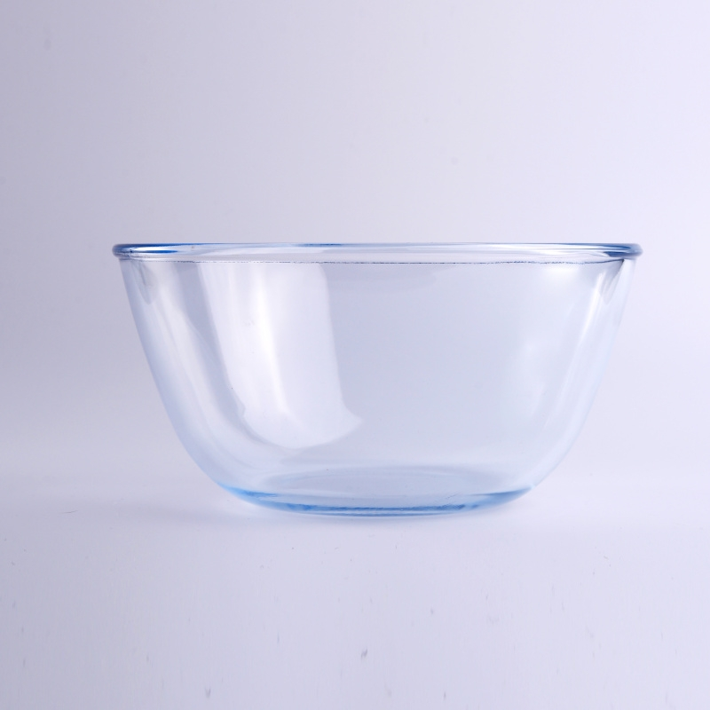 Blue Pyrex Glass Food Container Bowl Glass Bowl Supplier