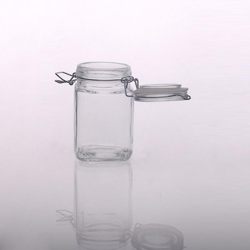 zuckerbohnenbeh lter glas mit clip deckel. Black Bedroom Furniture Sets. Home Design Ideas