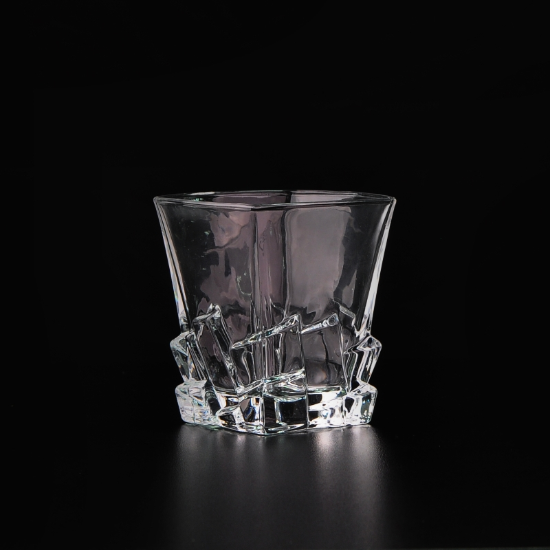 China Manufacture Clear Whiskey Drinkware Square Wine