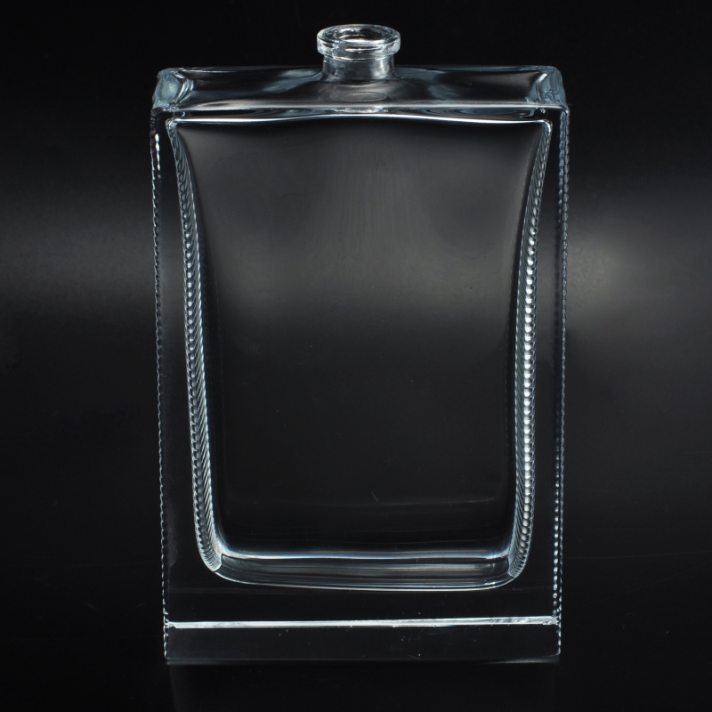 Classic Simple Square Shaped Glass Perfume Bottle Classic