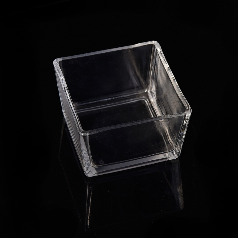 Clear Square Tealight Glass Candle Jar Wholesale Machine