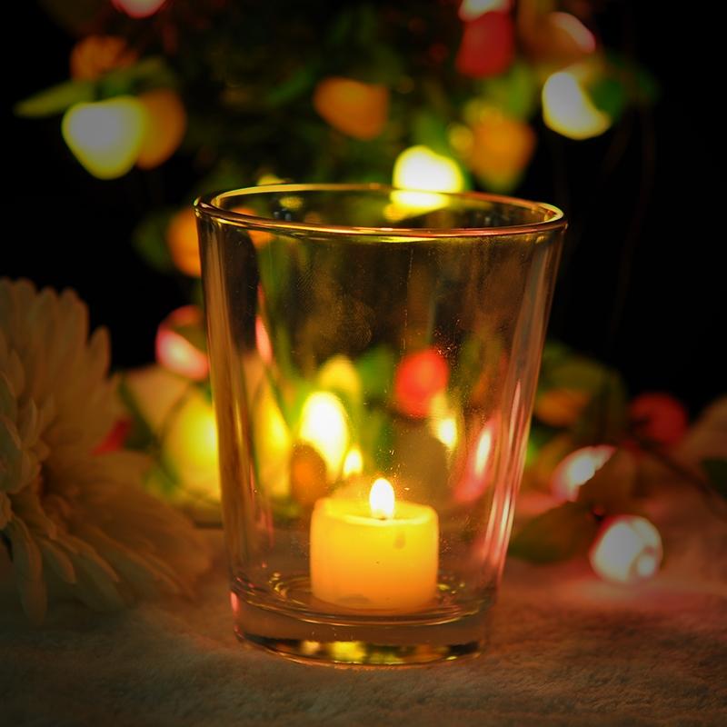 clear votive glass candle holder on okcandle.com