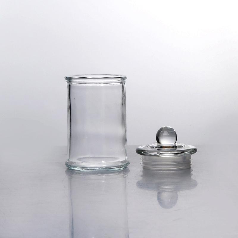 Vasi Vetro Ingrosso.Vaso Di Vetro Trasparente Della Candela Con Vendita All
