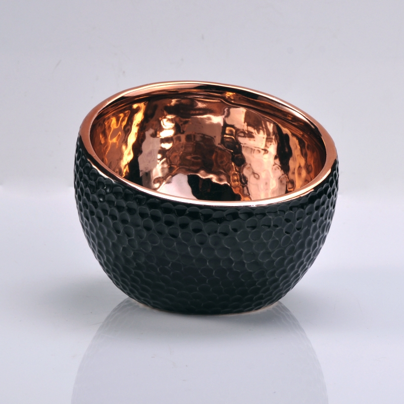 Copper Ceramic Bowl For Candle Ceramic Candle Jar On