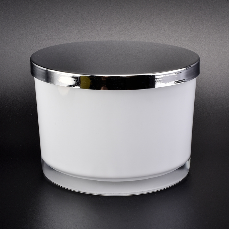 Custom 12 Oz Glass Candle Jar With Silver Lids