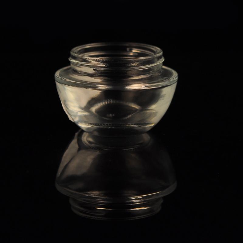 Custom glass cosmetic jar for skin cream glass cosmetic jar for Custom cosmetic jars
