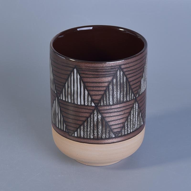 Customized Ceramic Candle Jar Candle Holder Candle Jars