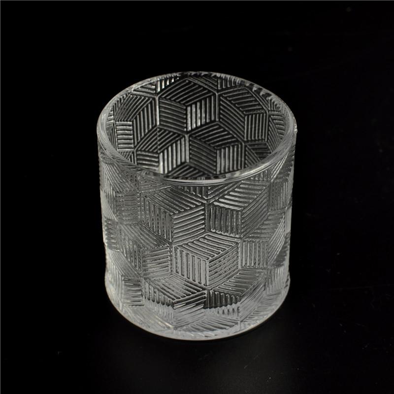 customized glass candle jar decorative glass candle jar. Black Bedroom Furniture Sets. Home Design Ideas
