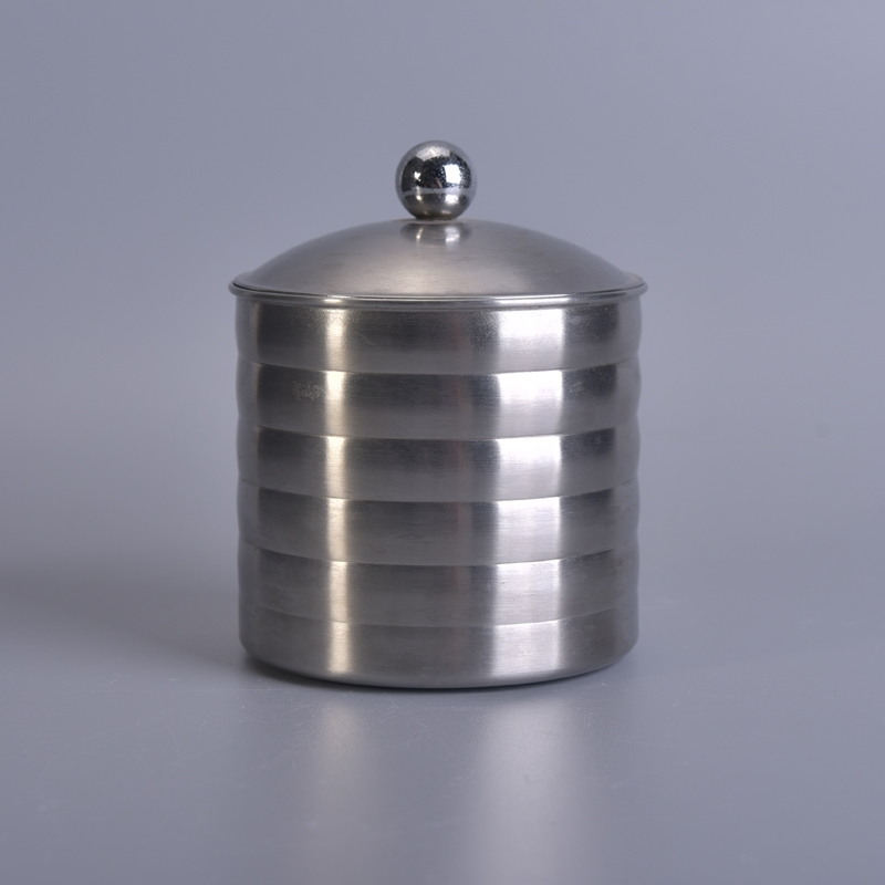 Cylinder Tall Stainless Steel Jar With Lid China