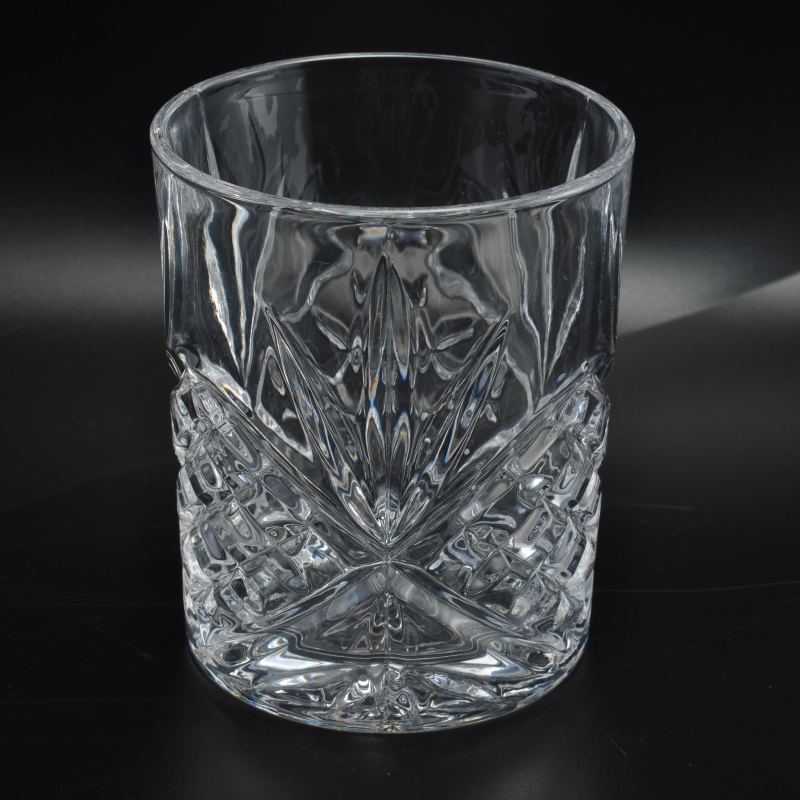 Delicate Home Glass Candle Holder Glass Cup For Drinking