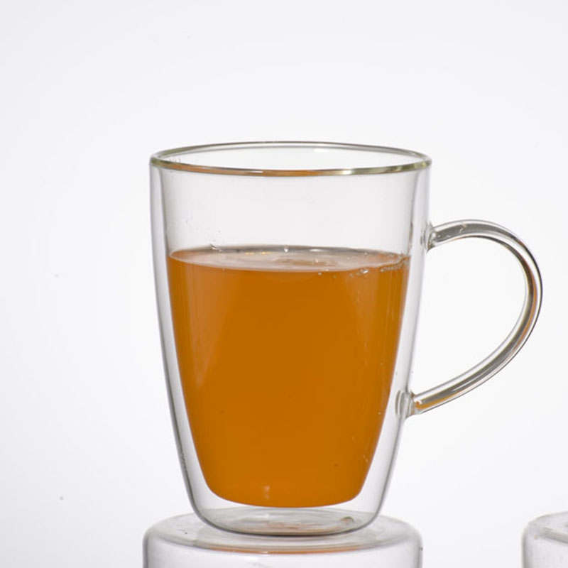 Double Wall Glass Cup Drinking Glass