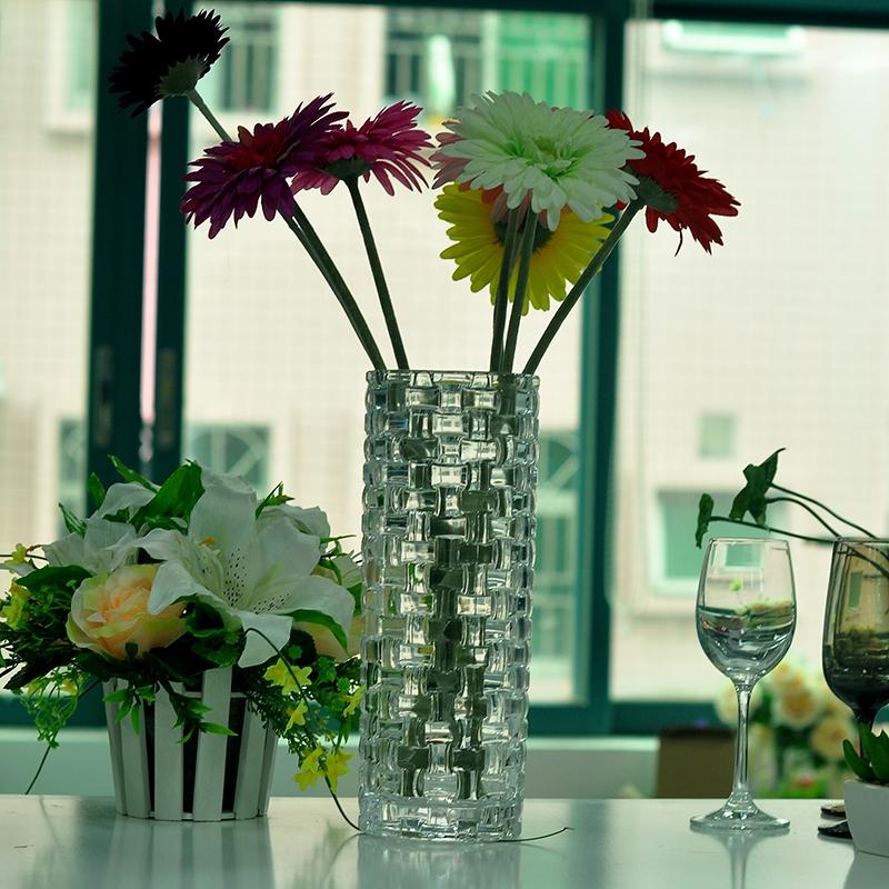 Embossed Cylinder Gl Vase Wholer From China