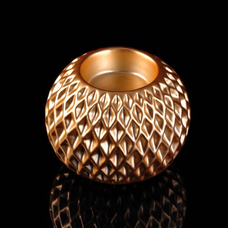 Gold Luxury Ceramic Ball Shape Tealight Candle Holder