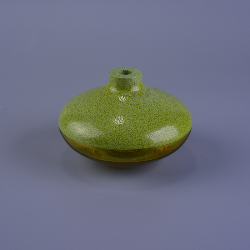 Green Round Olive Glass Oil Bottle 250 Ml China Glass