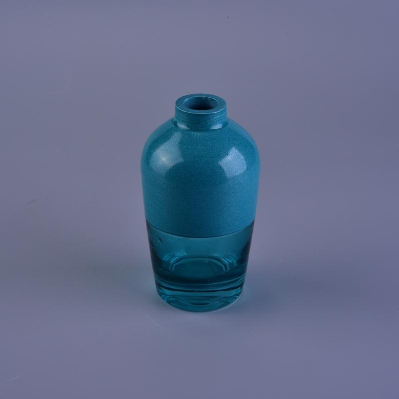 Handmade crack lacquering cut glass diffuser bottle cut for How to break bottom of glass bottle