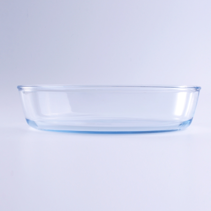 Heat Resistant Round Baking Glass Plate Glass Tableware