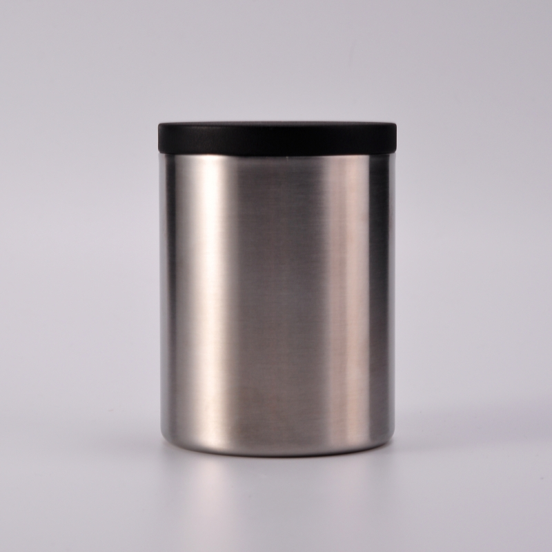 High Quality Double Wall Stainless Steel Candle Jars With Lids