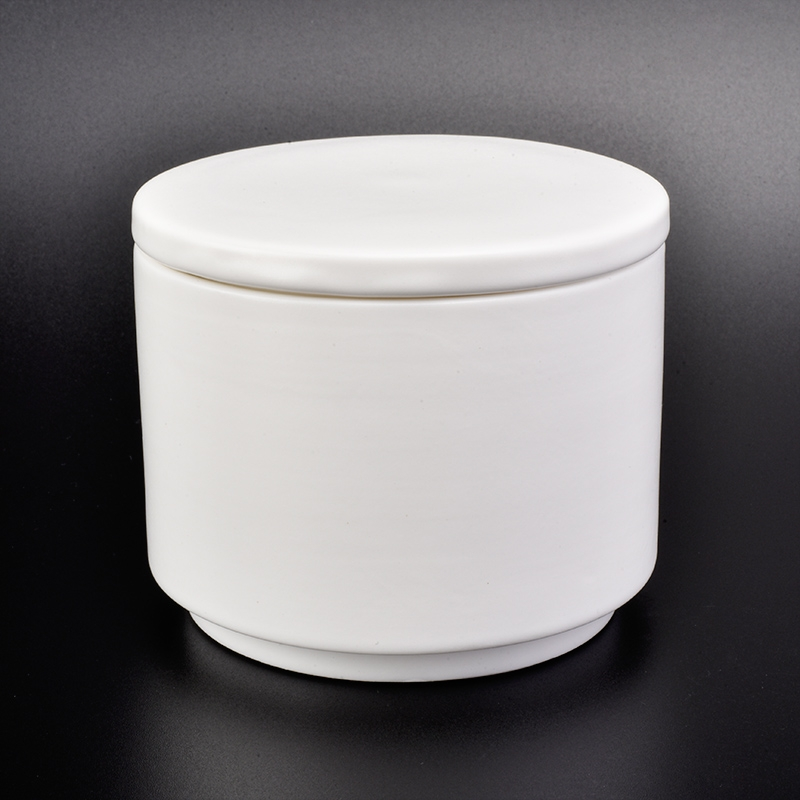 high quality white ceramic candle jar with lid pure decoration. Black Bedroom Furniture Sets. Home Design Ideas